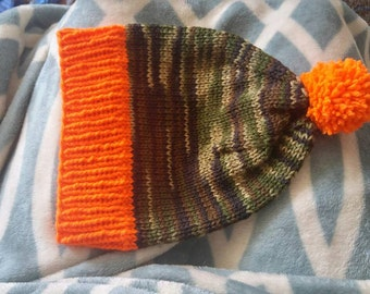 Made to order knitted beanie pom pom optional