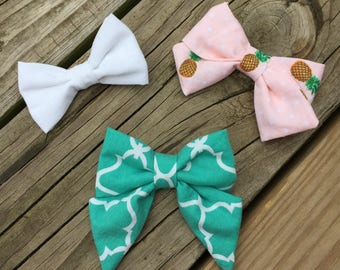 Fabric Hair Bow Set