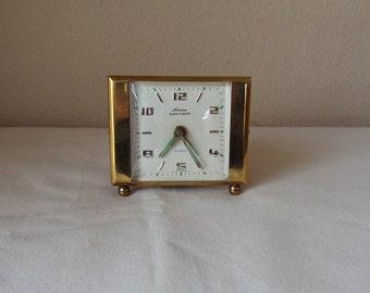 Linden Black Forest Vintage Brass Alarm Clock  made in West Germany - Works - small wind up