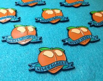 Never Forget the original Peach Emoji
