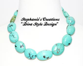 "Turquoise Elegance ""Sleeping Beauty Turquoise Statement Necklace"""