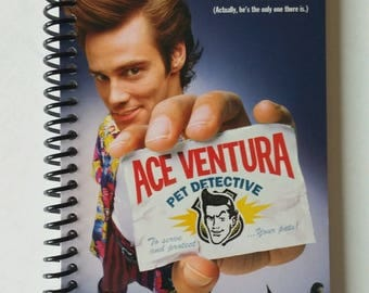 Ace Ventura Pet Detective Spiral Notebook Hand Made from Original VHS Tape Movie Cover