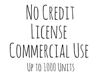 Commercial License For Clipart and Digital Papers, No Credit Licence