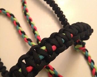 Custom Rope halter, 4 strand braid, paracord horse tack, durable
