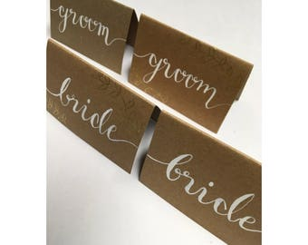 Wedding Table Place Name Cards - First Name Only