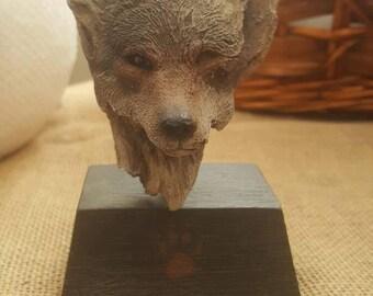 Rick Cain Sculpture, Wolf Sculpture, Wood Sculpture