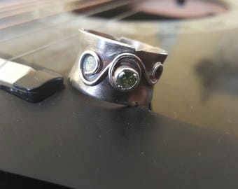 Sterling Silver wide band