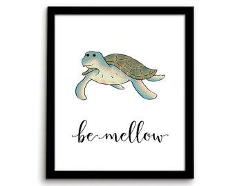 Turtle Print Animal Nursery Art Animal Nursery Print Be Gender Neutral Nursery Decor Nursery Wall Art Playroom Art Underwater Art Print