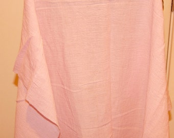 Pink Crepe Type Fabric Poly Cotton Blend