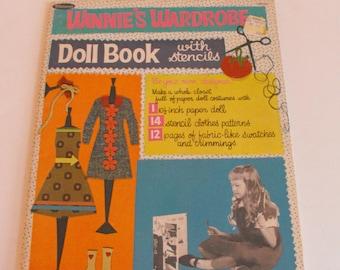 1966 Winnie's Wardrobe Doll Book with Stencils Paper Dolls   (866)