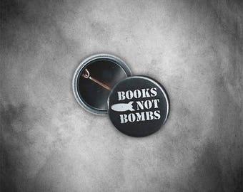 Books Not Bombs Button