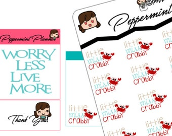 Little Miss Crabby, Planner Stickers, {#77}