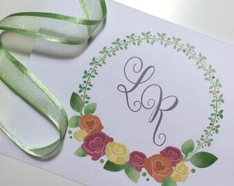 Floral Wedding Participation | Floral Wedding Invitation