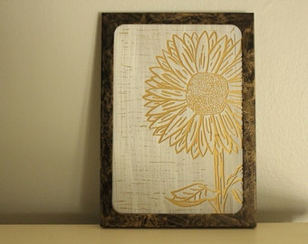 Sunflower Painting on Glass