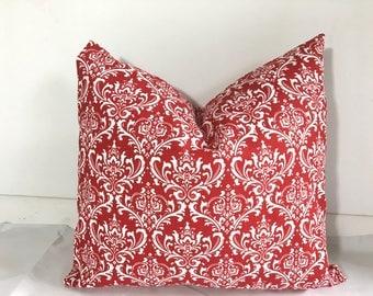 SALE Pillow cases Cotton Pillows Decorative Pillow  Dorm pillow Premier Print Red and white 20x20,  16X16, 14x16, 12x16, 12x12, 10x10