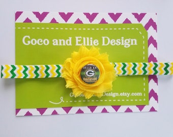 Green bay Packers headband Green Bay headband for baby Green Bay baby girl shower gift-Packers baby girl-Packers for baby-packers headband