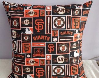 16 x 16 San Francisco Giants pillow/sf Giants stadium pillow-SF Giants pillow/SF giants baseball/SF giants for man cave-giants dad gift