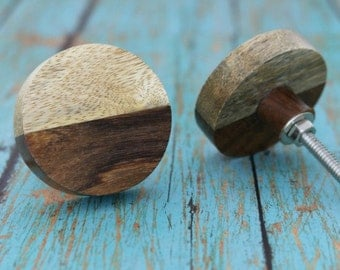 Round Wooden Cabinet Knob