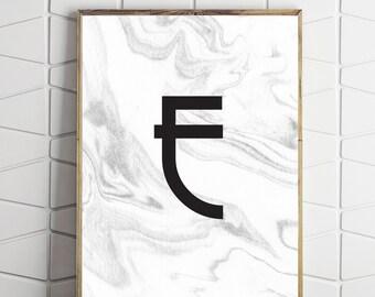 e letter art, printable e card, digital download e, e instant download, e printable letter, e monogram art, e monogram gift, e art