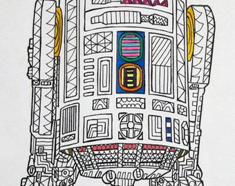 R2 D2 Star Wars Coloring Page Pages