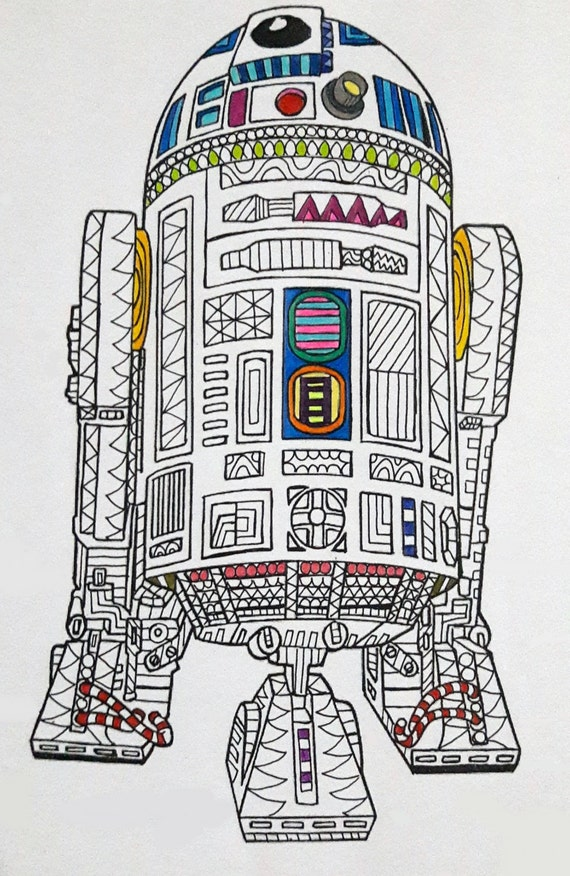 R2 D2 Star Wars Coloring Page Star Wars Coloring page