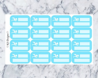 Swimming Practice || 16 Planner Stickers