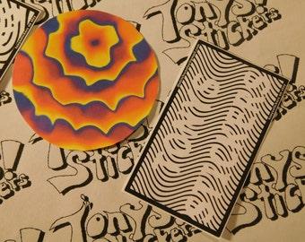 """Trippy """"Drainbow rainbow"""" Graphic Laptop sticker"""