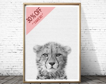 Cheetah Print Art, Cheetah Photo Print, Instant Download, Cheetah Printable Art, Animal Wall Art, Wall Decor, Black and White, Cheetah Art