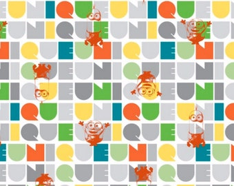 Minions Fabric- Minions Le Buddies Fabric Orange From Quilting Treasures