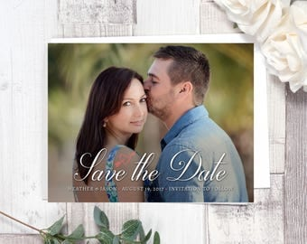 Save the Date Magnet (Printed), Save the Date photo magnet, Save the date, Custom Save the Date Magnet
