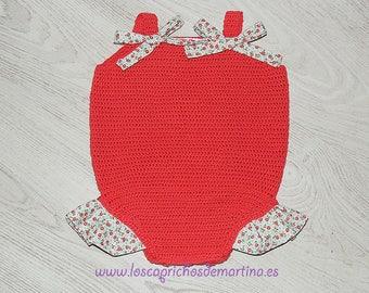 "Babygrow crochet handmade ""Coral"""
