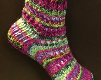 Holes and Slip DK Sock Pattern