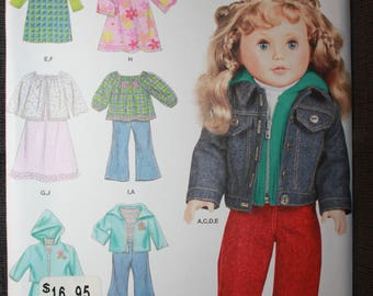 Simplicity 1580   Elaine Heigl Design  18 in Doll Clothes