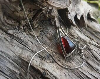 Italian cherry amber necklace