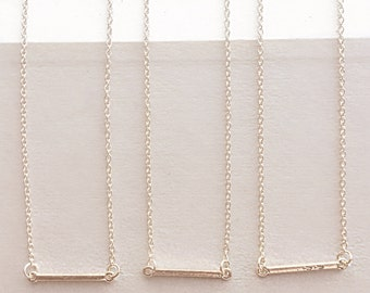 Bridesmaid bar necklace, bar neckalces, bar necklace set, gold bridesmaid necklaces