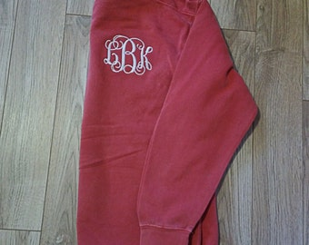Comfort Colors Monogrammed Sweatshirt/Monogrammed Sweat Shirt/Comfort Colors/Sweatshirt