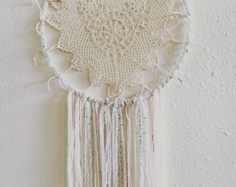 Crocheted Heart Doily Dreamcatcher