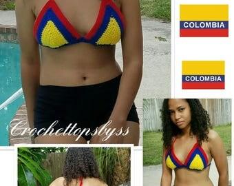 Juniors/Women's Crochet Bikini Top (Colombia)
