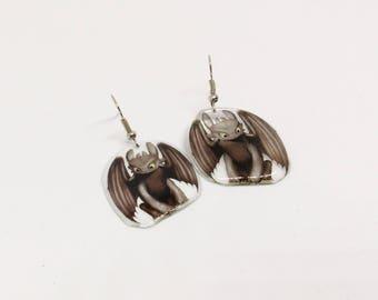 Toothless Earrings