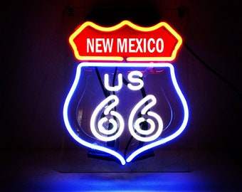 Handmade Route 66 New Mexico State Beer Bar Pub Neon Light Sign