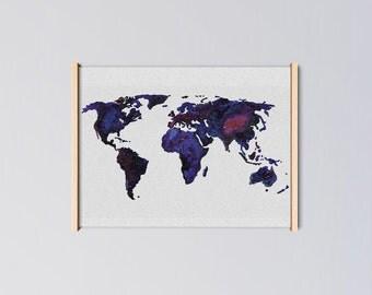 Galaxy World Art Print