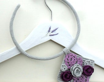 crocheted floral necklace