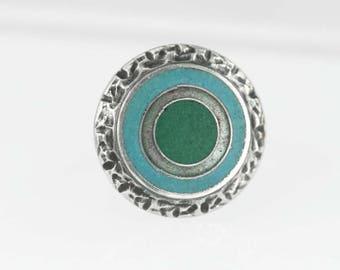Schotlz & Lammel Cloisonné Modernist Ring 1960s Enamel (aka Schibensky)