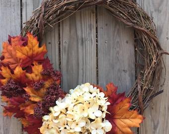 Gorgeous warm autumn wreath