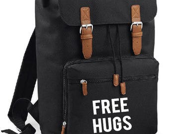Free Hugs  Backpack - college,school,uni,weekedner,bag,tasche,rucksack,herritage,student,hugs,
