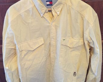Tommy Hilfiger light yellow oxford