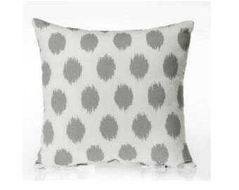 Grey and White Throw Pillow - Grey and White Pillow Cover - Poka Dot Pillow - Grey and White Decorative -  White and Gray Pillow