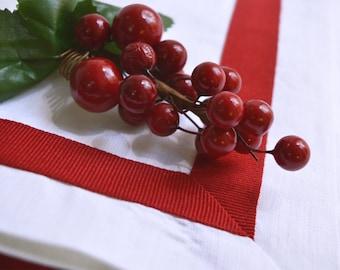 linen, flax, linen table runner, table runner, Christmas table idea