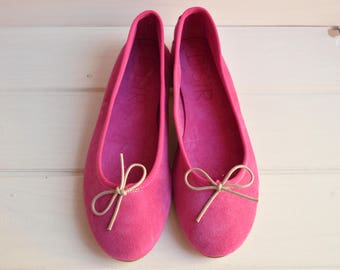 PRIVATE LISTING for Sevi Moschou, suede, Italian leather, magenta color