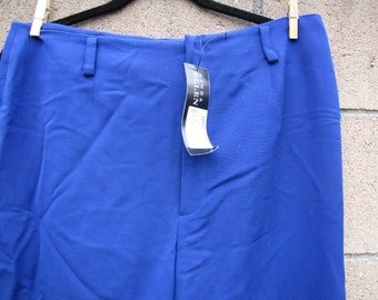 VIntage Pants 1980's Linda A Ellen Tracy Pants List Price Royal Blue Size 14 - Inseam 30""